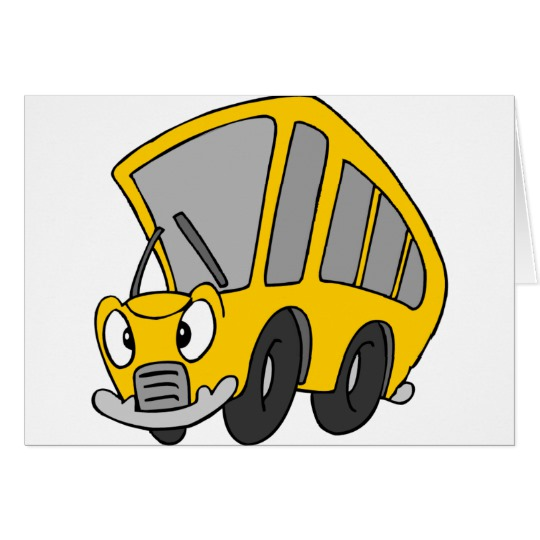 Goofy School Bus Card.