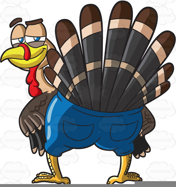 Goofy Turkey Clipart.