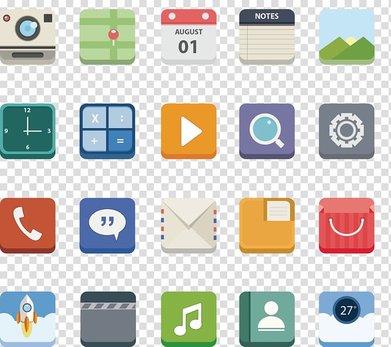 Icon design Mobile app Icon, painted phone APP Icon.