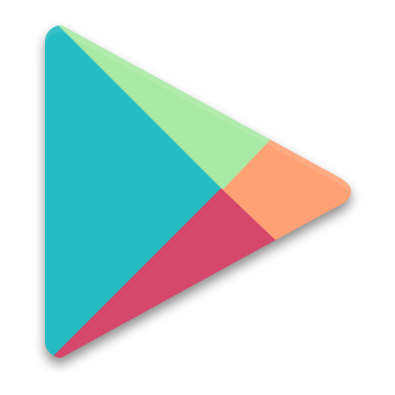 Google, play icon.