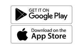 Google Play App Store Icons Editorial Stock Photo.