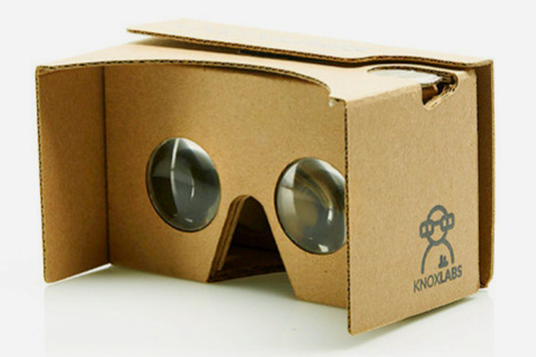 Google Cardboard VR viewer goes on sale in new virtual reality store.
