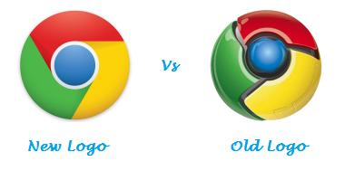 Google Chrome New Logo Vs Old Logo.