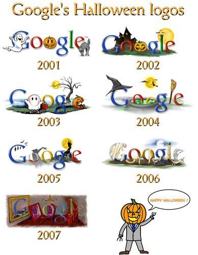 Google's Halloween logos.