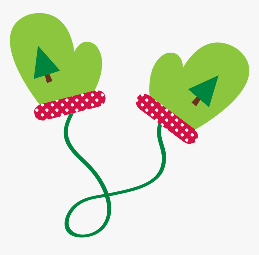 Christmas Mittens Clipart.