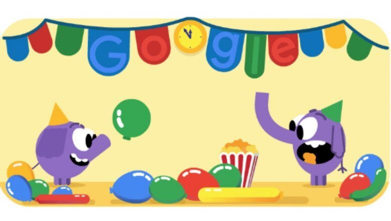 New Year\'s Eve Celebrated With Colorful Party Doodle by.