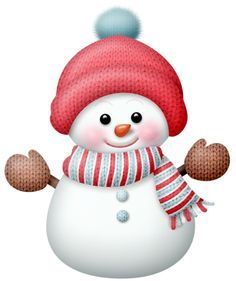 santa with snowman clipart.