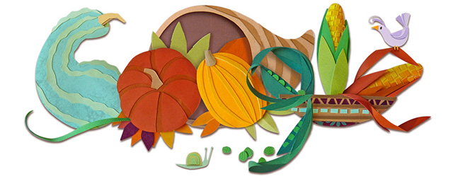 Happy Thanksgiving Day Logos From Google, Bing, Ask.com & More.