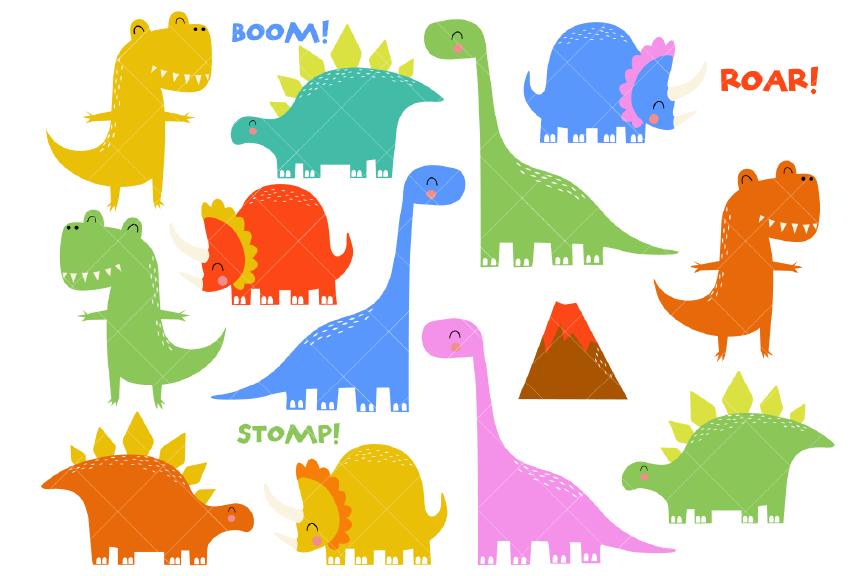 Dinosaur Clipart, Prehistoric Animals.