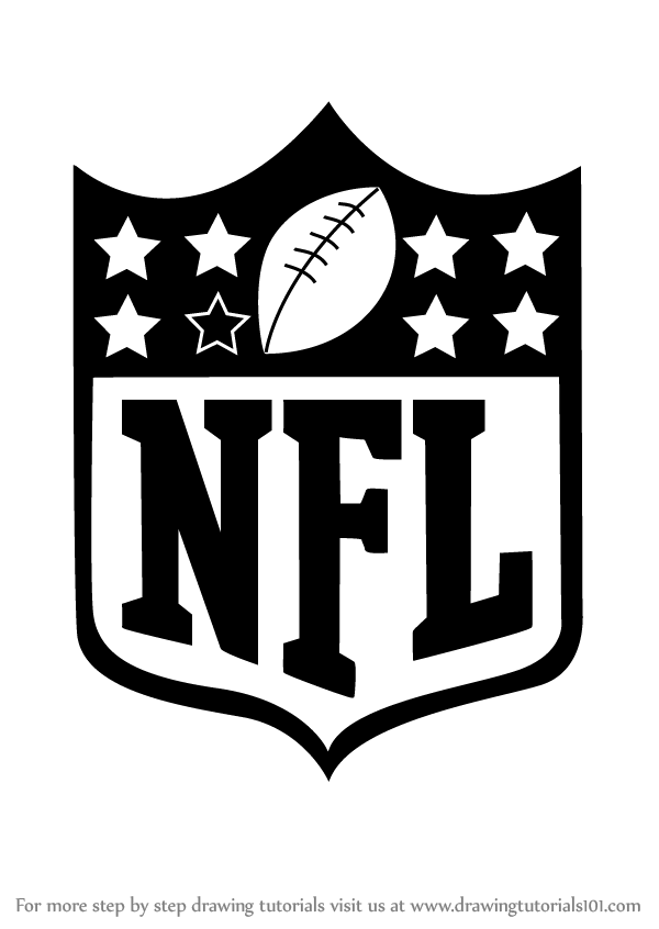 Learn How to Draw NFL Logo (NFL) Step by Step : Drawing.