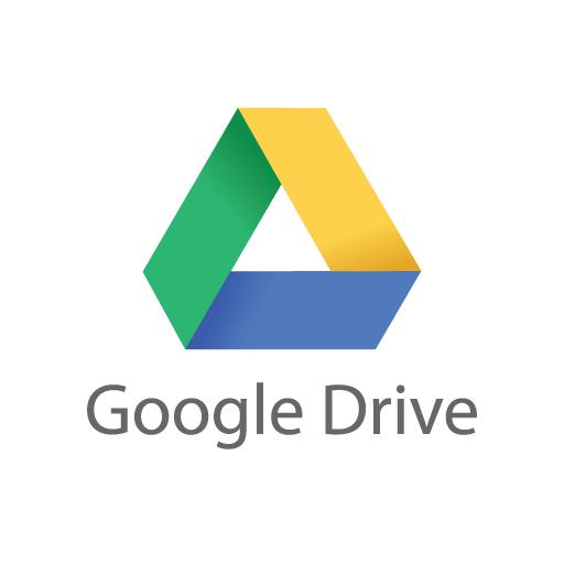 Google Drive logo vector free download.
