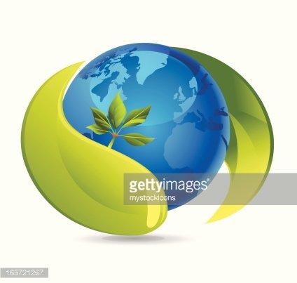 Nature Earth Icon Clipart Image.
