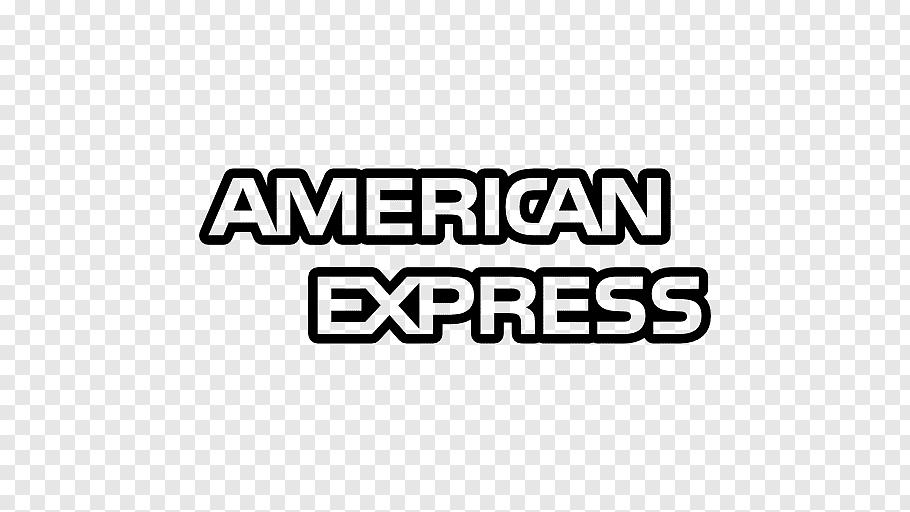 American Express text, American Express Logo Credit card.