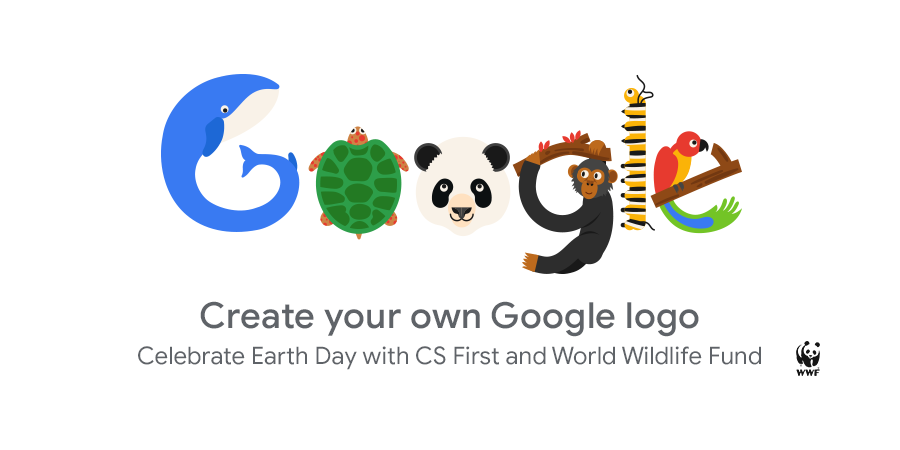 Create your own Google logo for Earth Day.