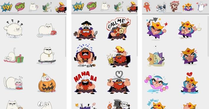 Big Hangouts update: stickers,