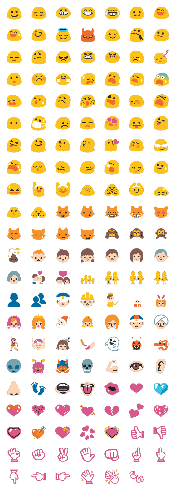 New emoji and emoticons for Google Hangouts.