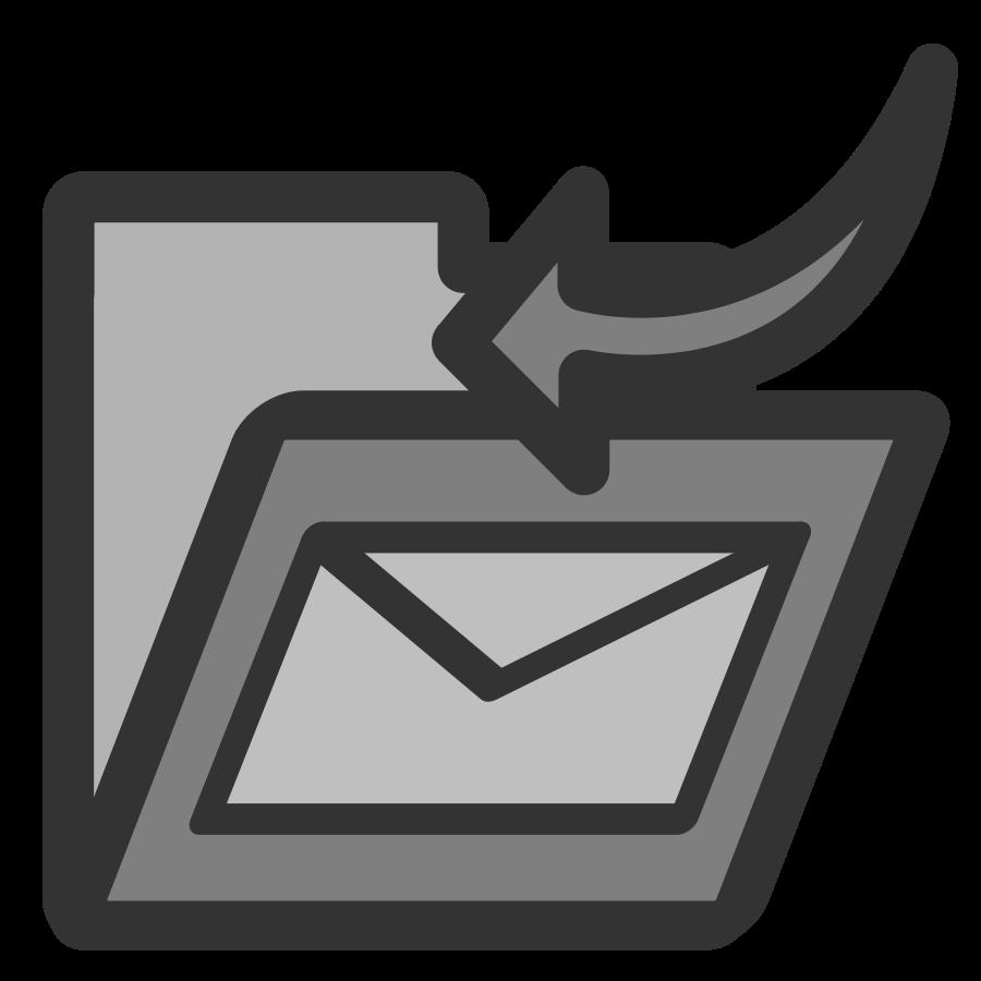 Folder inbox Clipart, vector clip art online, royalty free.
