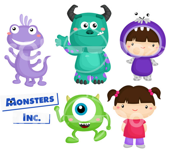 Monster Inc Clipart / Digital Clip Art for Commercial by comodo777.