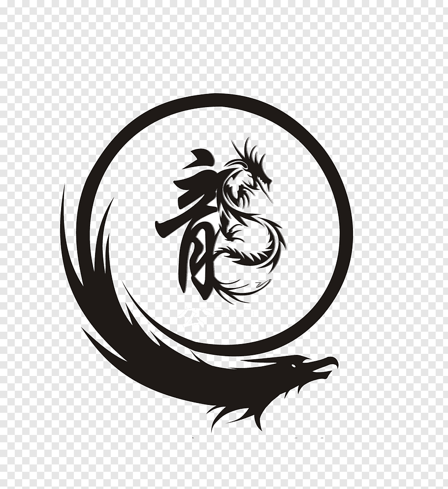 Black dragon logo, Dragon Logo, Dragon LOGO free png.