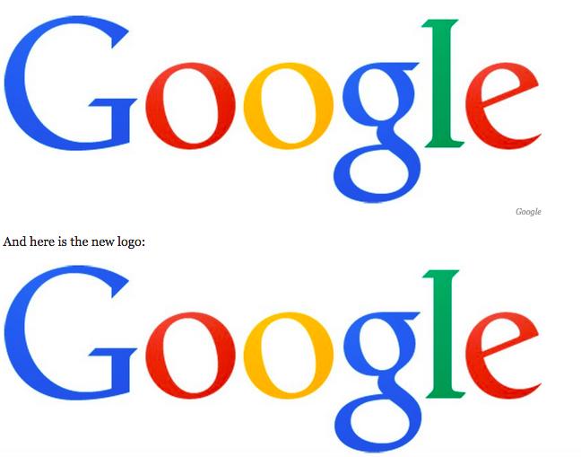 New Google Logo.