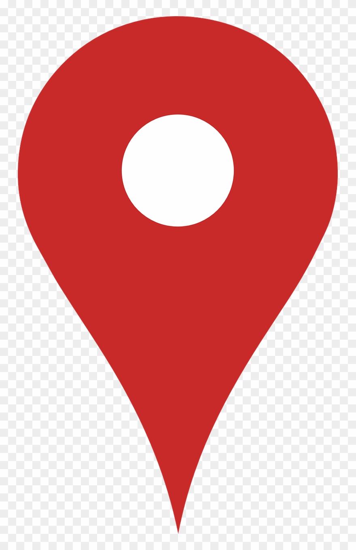 Google Map Marker Red Peg Png Image.