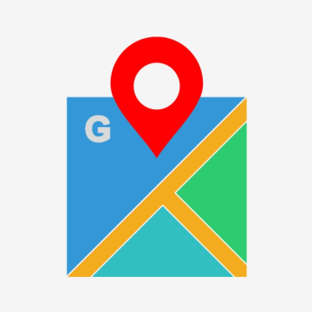 Google Maps Flat Multi Color Icon, Google Maps, Maps, Map PNG and.