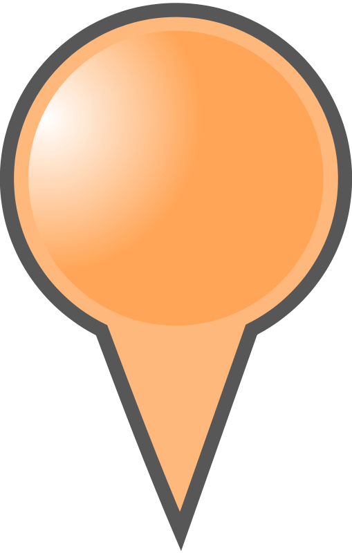 Free Clipart: Orange Map Marker.