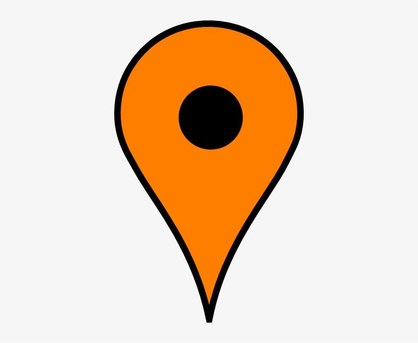 Google Maps Orange Marker.