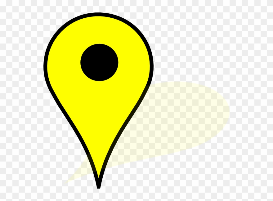 Yellow Google Maps Pin Clipart (#519487).