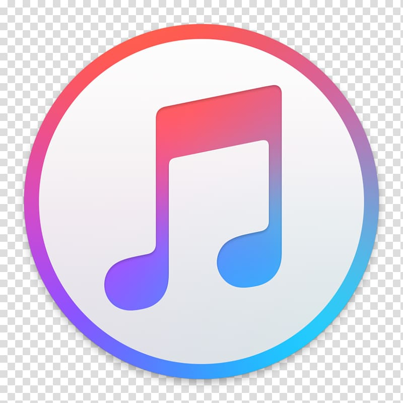 White and multicolored Music logo, Apple Music iTunes.