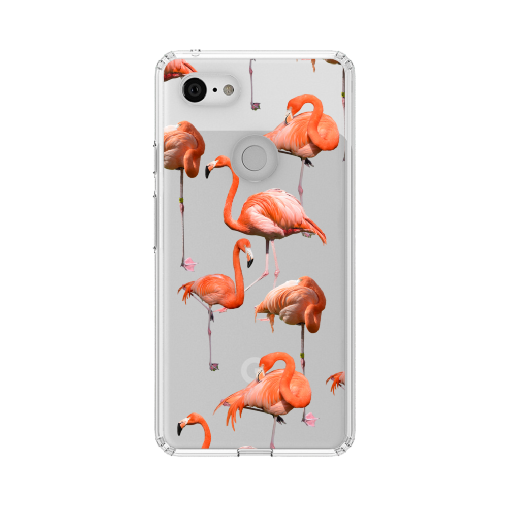Flamingo Clipart Google Pixel 3 XL Clear Case.