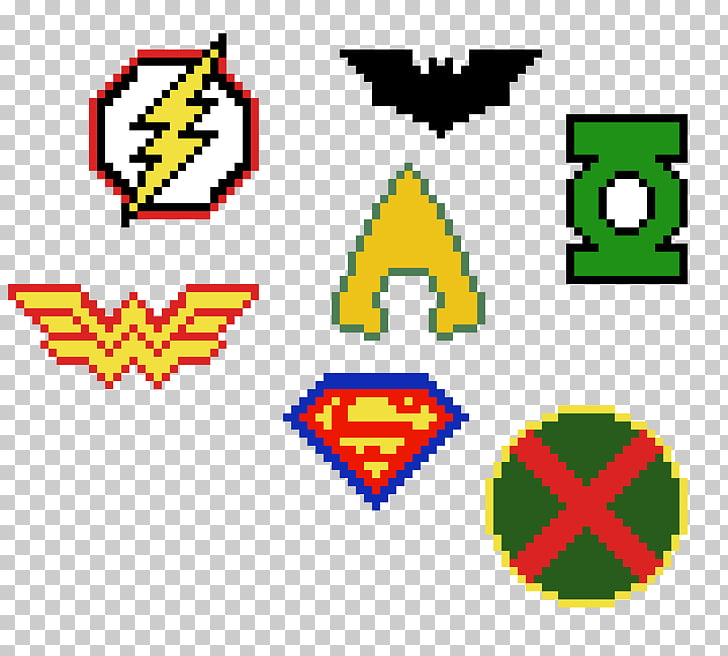 The Justice League Theme, Logos Pixel art, pixel logo PNG.