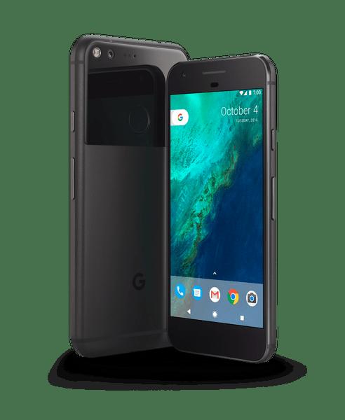 Google Pixel Phone Black transparent PNG.