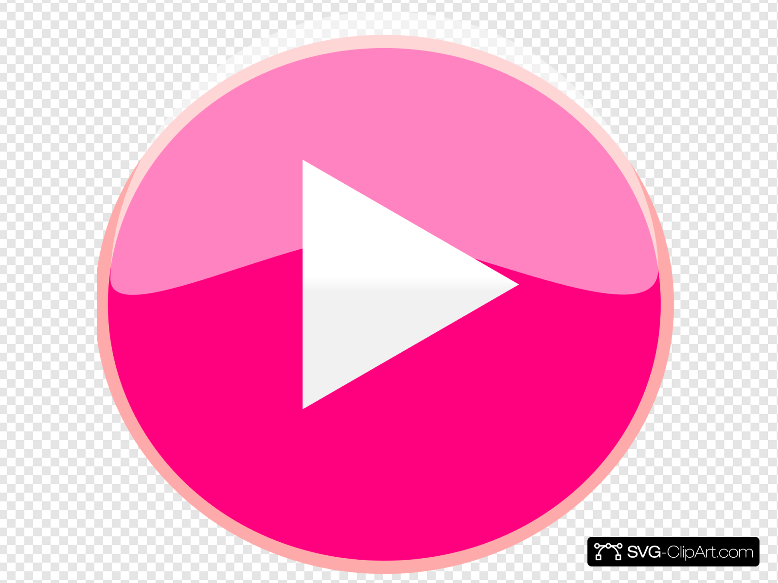 Pink Play Icon Clip art, Icon and SVG.