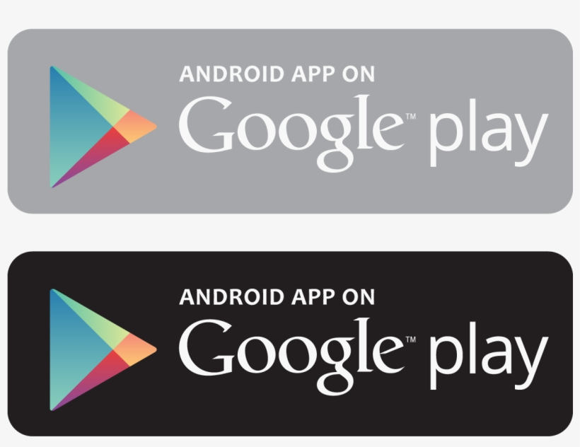 Android App On Google Play Logo Vector.