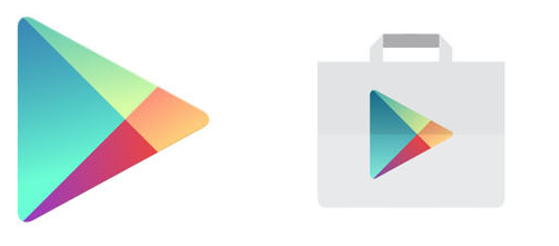 The evolution of Google logo as well as its Play Store logo.
