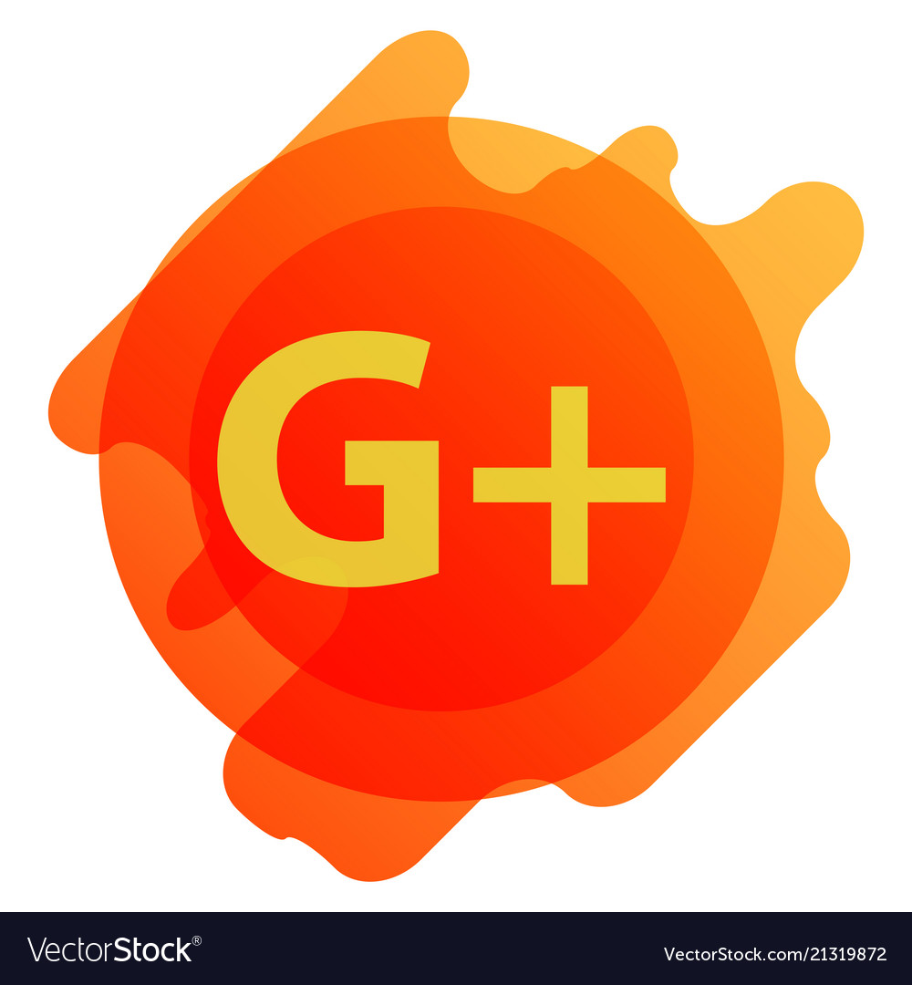 Google plus icons on white background.