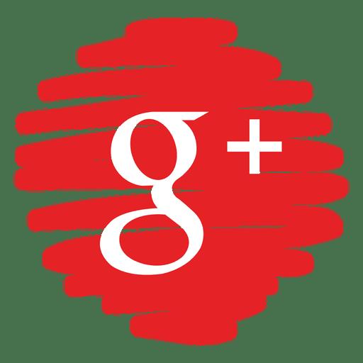 Google plus distorted round icon.
