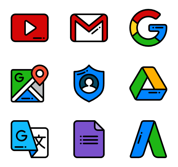 35 google icon packs.