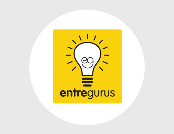 EntreGurus podcast logo design.