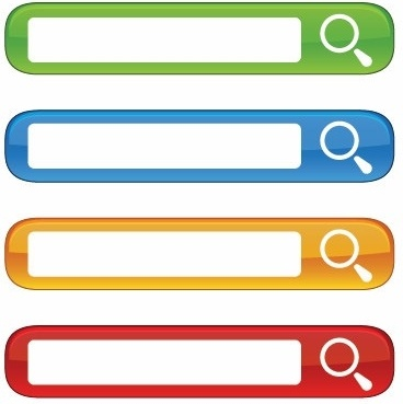 Free Colorful Website Search Boxes Vector Free vector in.