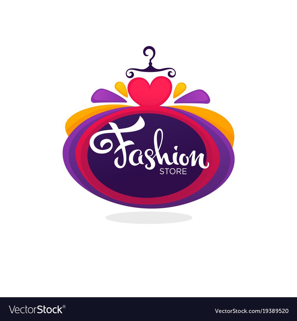 Fashion boutique and store logo label emblem.