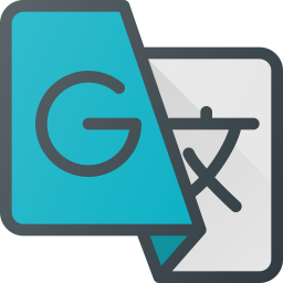 Google translate Logo Icon of Colored Outline style.