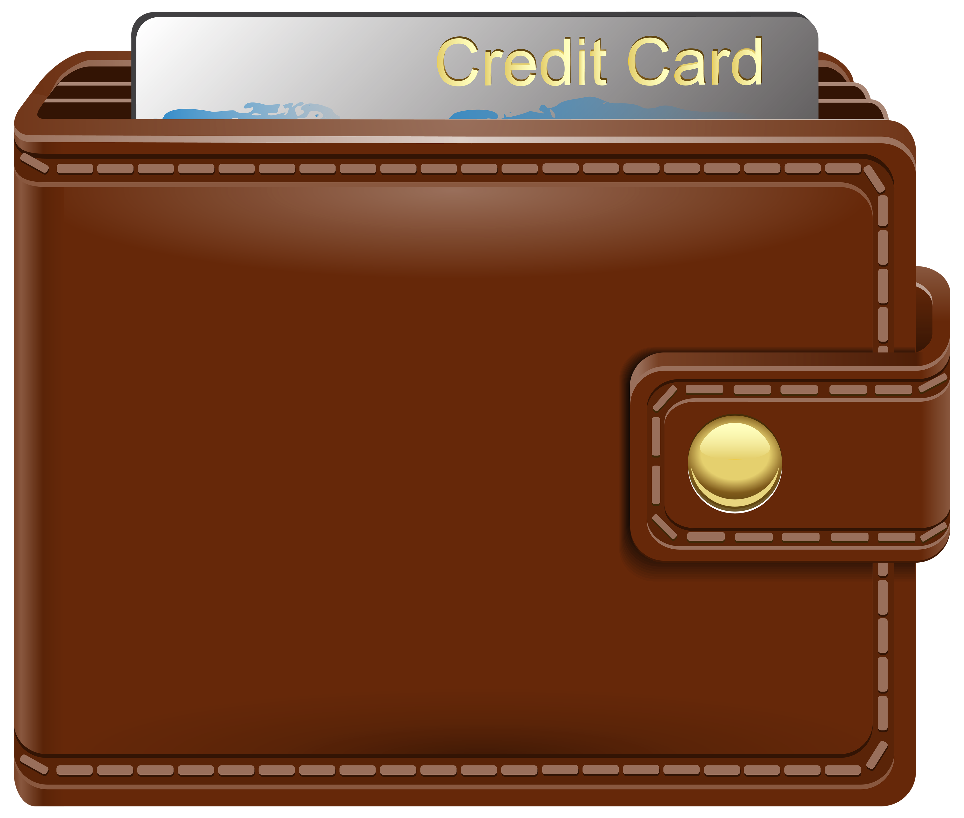 Wallet with Credit Card PNG Clipart.