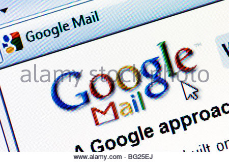 Google Mail, Gmail Home Page Website Or Web Page On A Laptop.