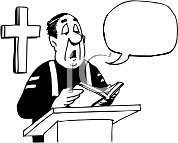 Catholic Priest Preaching Clipart.