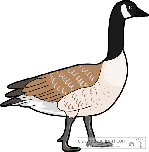 868 Goose free clipart.
