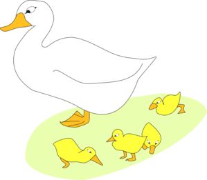 Goose With Gosling Clip Art at Clker.com.