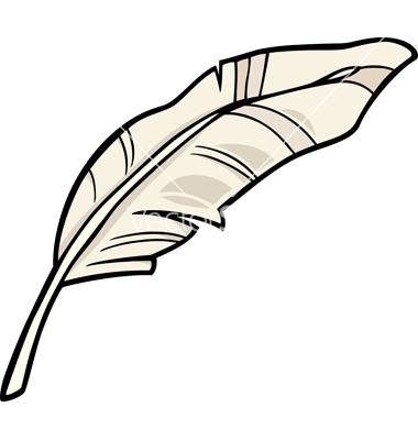 Feather clip art cartoon vector by Igor_Zakowski.