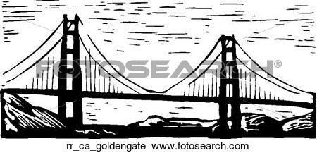 Clipart of golden gate rr_ca_goldengate.